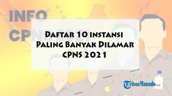 CPNS 2021, Berikut Daftar 10 Instansi yang Paling Banyak Dilamar, Lengkap Jadwal Pendaftaran