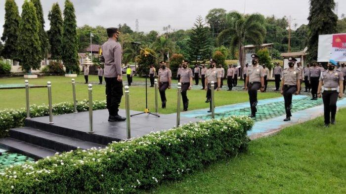 11 Perwira dan 44 Brigadir di Polres Minsel Naik Pangkat