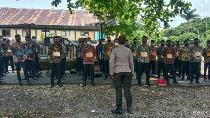 115 Calon Siswa Polisi Perbatasan Ikut Seleksi di Mako Polres Talaud