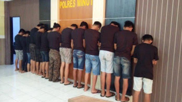Polres Minut Amankan 13 Tersangka Pembunuhan di Paniki Atas