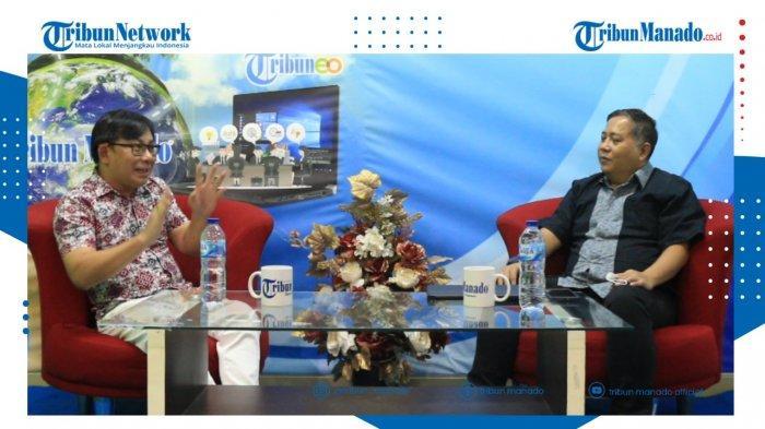 TRIBUN BAKU DAPA - Bersama Direktur Utama PD Pasar, dr Roland Roeroe