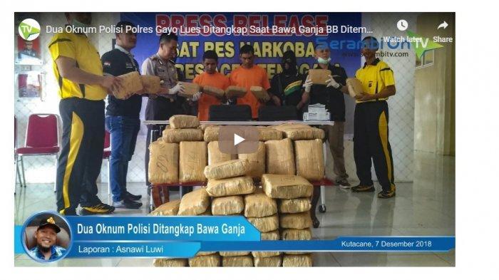 (VIDEO) 2 Oknum Polisi Ditangkap Bawa Ganja yang Ditemukan di Dalam Kendaraan Dinas