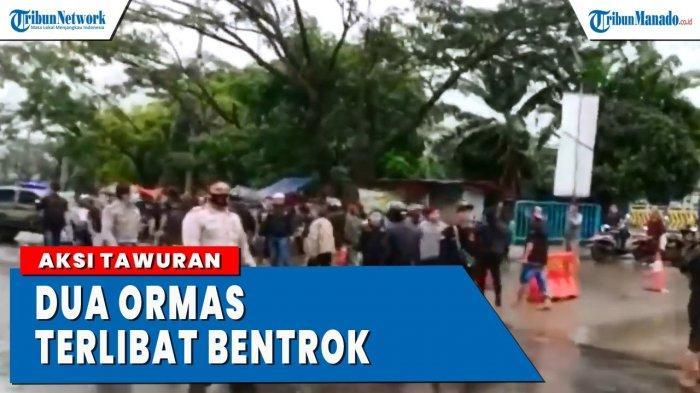VIDEO 2 Ormas Bentrok di Depan Terminal Sukabumi
