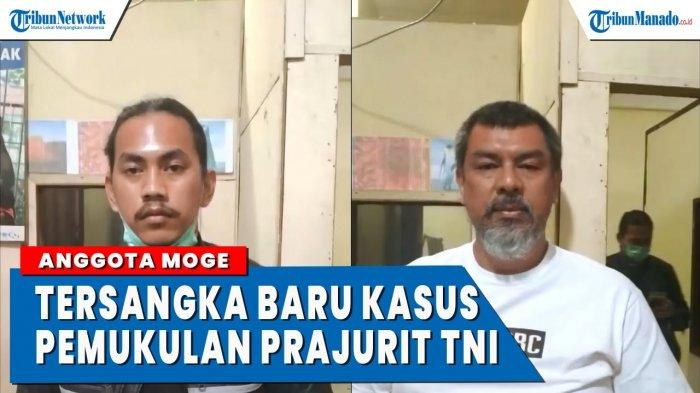 VIDEO Wajah 2 Anggota Moge Tersangka Pengeroyokan TNI di Bukittinggi