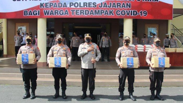 Jajaran Polda Sulut Kembali Salurkan Bansos Sebanyak 200 Ton Beras