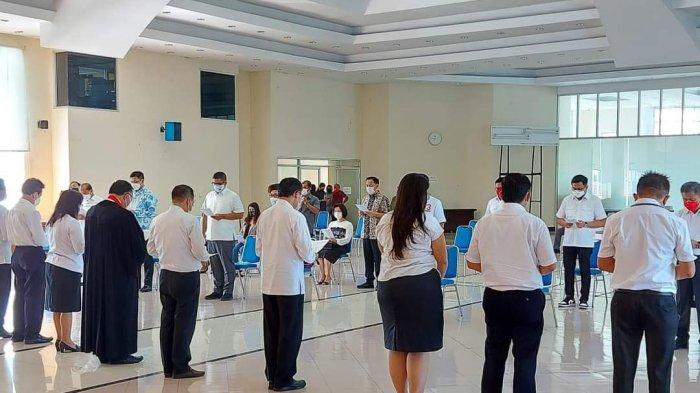 22 Calon Kepala Daerah Didoakan di Kantor Sinode GMIM