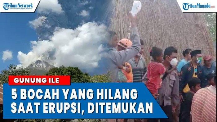 VIDEO 5 Anak Hilang Saat Erupsi Gunung Ile Lewotolok Ditemukan
