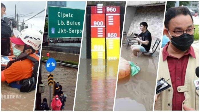 5 Fakta Banjir Jakarta, 1.361 Jiwa Mengungsi, Anies Baswedan Sebut Kiriman Air dari Depok