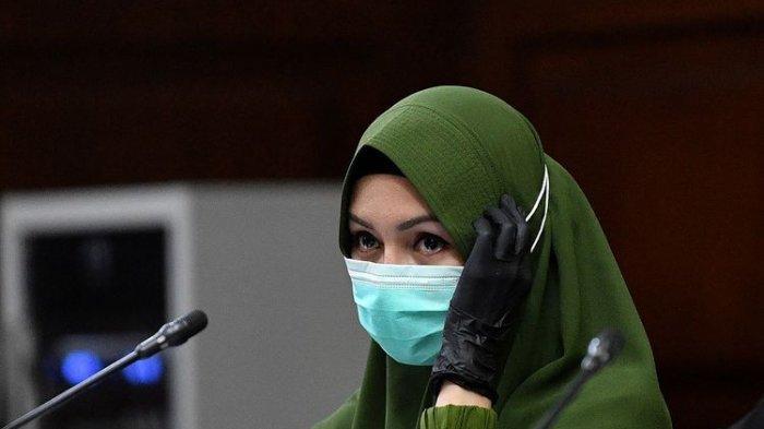 Jaksa Pinangki sebagai terdakwa saat menjalani sidang lanjutan di Pengadilan Tipikor, Jakarta, Senin (9/11/2020).