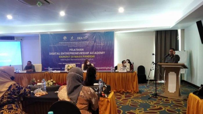 50 Pelaku UMKM Bolmong Ikut Pelatihan Digital Entrepreneurship Academi 2021