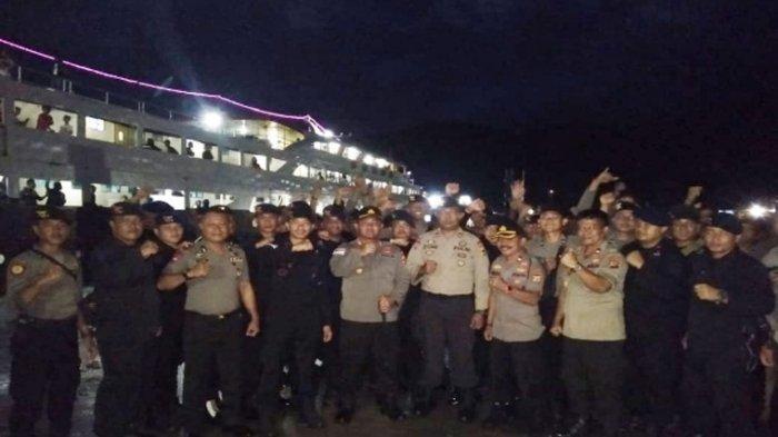 63 Personel Polda Sulut Kembali ke Manado, Kapolres Sangihe : Terima Kasih Bantuannya Rekan-rekan