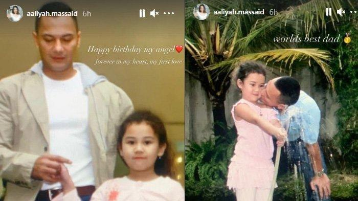 Aaliyah Massaid peringati hari ulang tahun sang ayah, mendiang Adjie Massaid