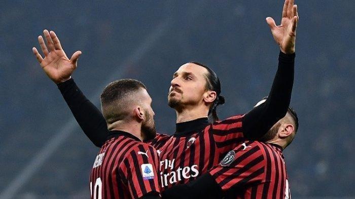 HASIL AC Milan vs Torino Coppa Italia Babak Pertama Skor 0-0, Zlatan Ibrahimovic Nyaris Cetak Gol