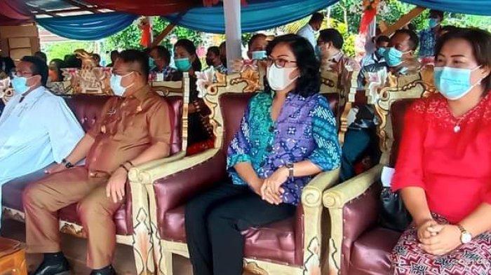 Acara peletakan batu dasar gereja jemaat persiapan, dari pemekaran Germita Jemaat Baitani Pulutan, di Desa Pulutan Selatan Kecamatan Pulutan pada Kamis (10/6/2021) kemarin.