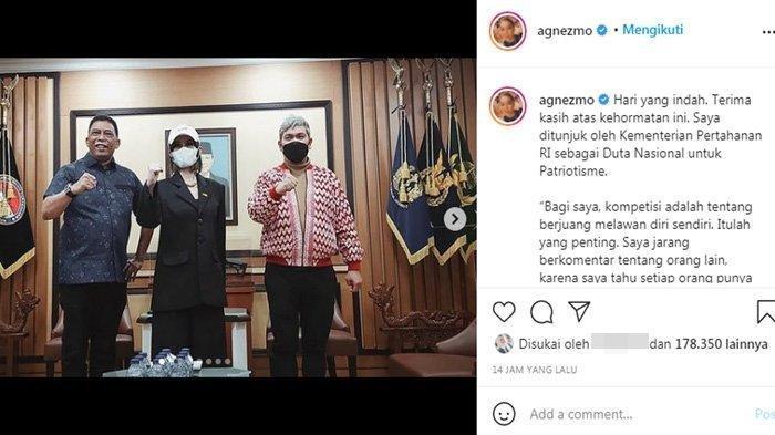 Agnez Mo didaouk jadi Duta Bela Negara