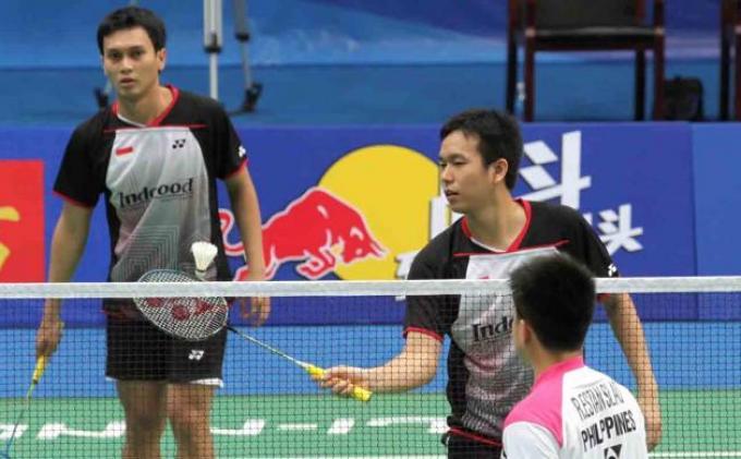 Hasil Final Badminton BWF World Tour Finals 2021, Ganda Indonesia Ahsan dan Hendra Sempat Unggul