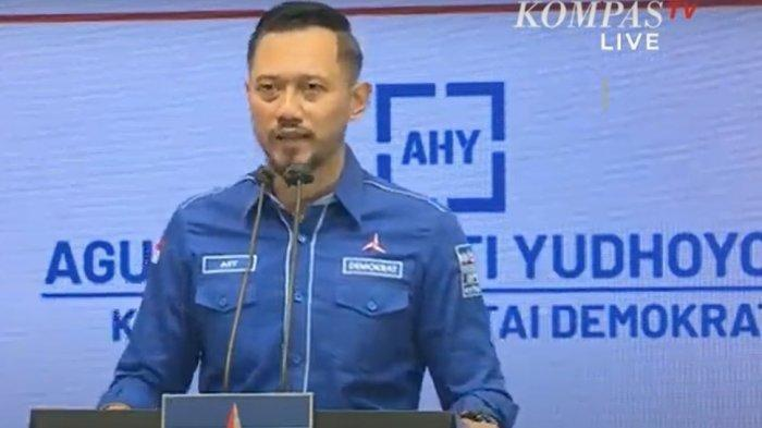 AHY dalam Konferensi Pers di  Kantor DPP Partai Demokrat, Jalan Wisma Proklamasi No.41, Menteng, Jakarta Pusat, Jumat (5/3/2021).