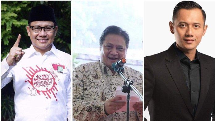 Airlangga Hartarto, Muhaimin Iskandar, dan Agus Harimurti Yudhoyono