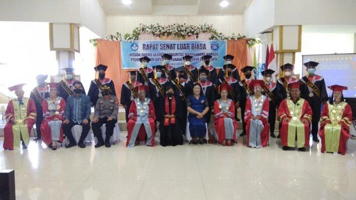 Akademi komunitas Mapanawang Manado Wisuda Diploma I Tenaga Keamanan Pariwisata Pertama di Indonesia