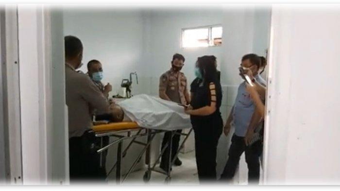 Jenazah AKBP Henzly Moningkey di RSUD Dr Sam Ratulangi Tondano pada Sabtu (26/06/2020)