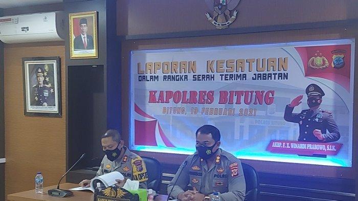 AKBP Indra Pramana H SIK Kapolres Bitung yang baru tiba di Mapolres Bitung