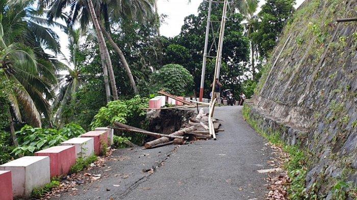 Warga Siau Timur Utara Temui Wakil Ketua DPRD Sitaro, Keluhkan Kondisi Jalan Rusak