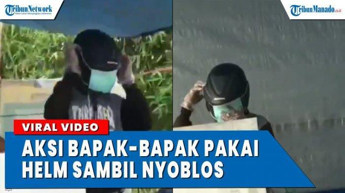 VIDEO Aksi Lucu Bapak-bapak Pakai Helem Saat Nyoblos