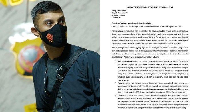 Sosok Didi Riyadi, Artis yang Tulis Surat Terbuka untuk Jokowi,Sebut Situasi Bak Buah Simalakama