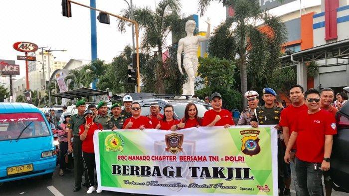 Komunitas Pajero Owners Community (POC) Bersama TNI Polri Bagikan Takjil Gratis