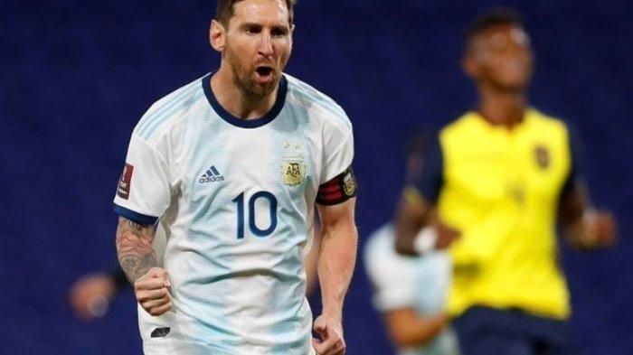 Aksi megabintang timnas Argentina, Lionel Messi