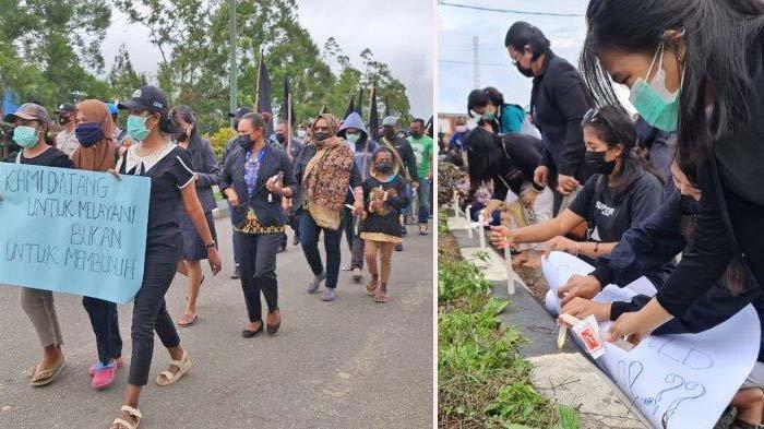 Aksi Ratusan Tenaga Kesehatan di Pegunungan Bintang, Bakar 1000 Lilin, Bentuk Duka Cita