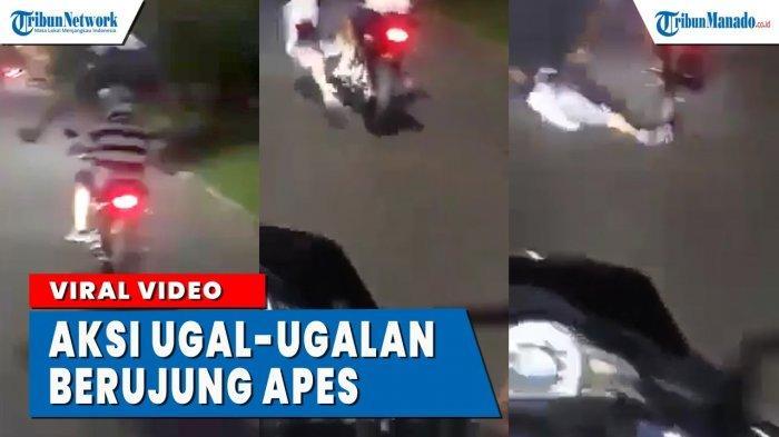 VIDEO Aksi Ugal-ugalan Pemotor Berujung Apes