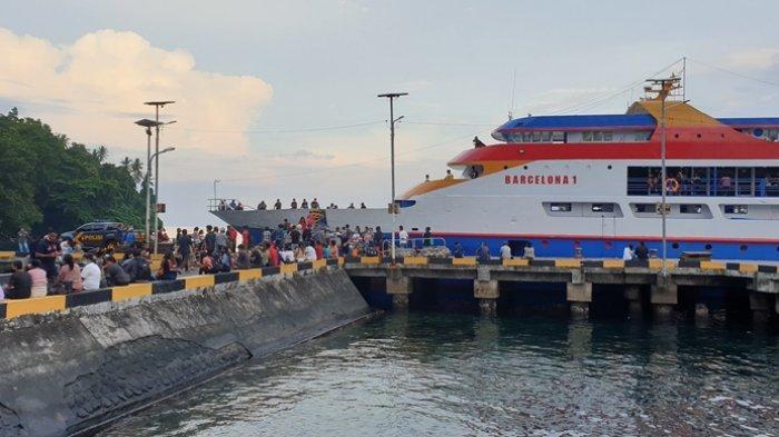 UPP Kelas III Ulu Siau Kabupaten Sitaro Berlakukan Pembatasan Jumlah Penumpang Kapal