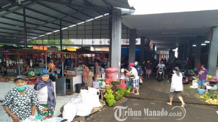 Pasar Tradisional Ratahan Mulai Ramai