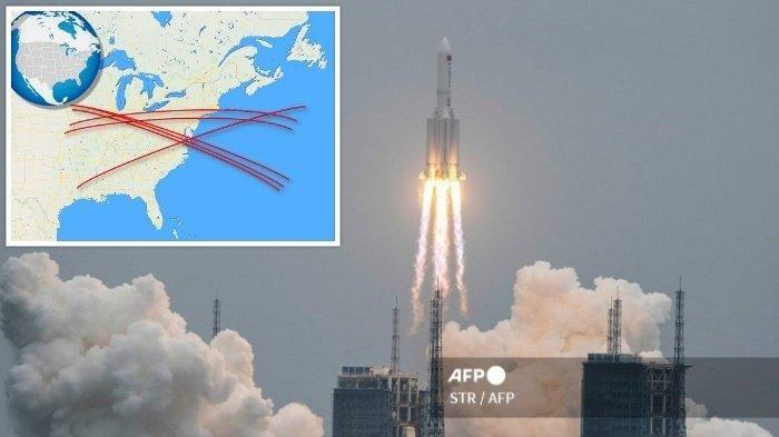 ALAMAK! Roket Luar Angkasa Milik China Tak Terkendali Bakal Jatuh ke Bumi, Ini Prediksi jalurnya!