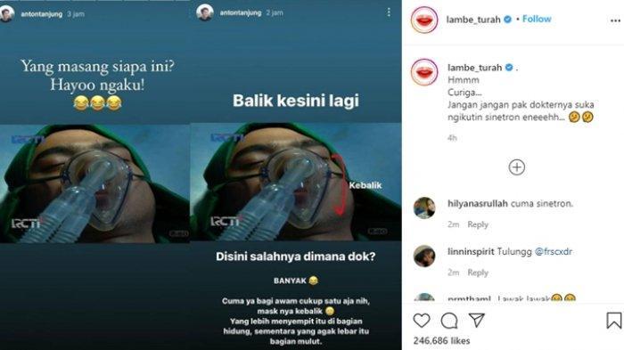 Arya Saloka Diejek, Salah Pasang Alat Pernapasan di Ikatan Cinta, Amanda Manopo Minta Maaf