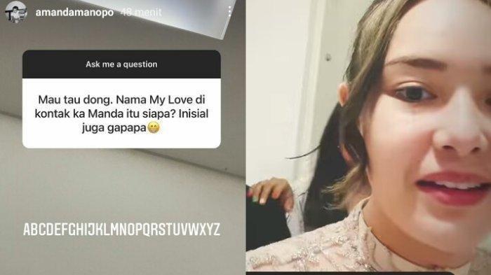 Amanda Manopo tanggapi soal nama My Love di ponselnya.