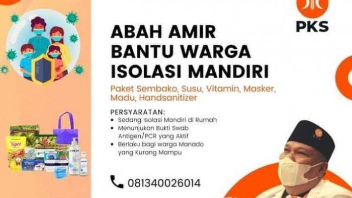 Amir Liputo Anggota DPRD Sulut berbagi paket sembako