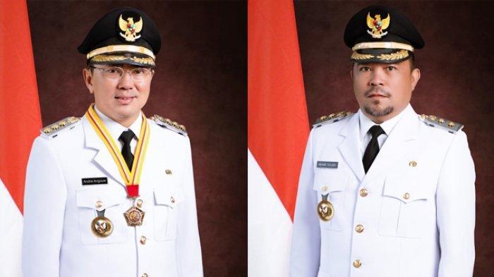 Andrei Angouw-Richard Sualang Tampil Gagah, Setelan Pelantikan Wali Kota dan Wawali Manado