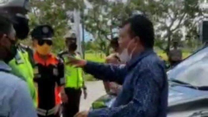 Anggota DPRD NTB Marah-marah di Pos Penyekatan, Tak Terima Diminta Putar Balik, Minta Petugas Bubar