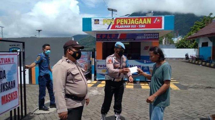 Operasi Ketupat Samrat 2021, Polisi di Sitaro Bersiaga di Tujuh Pos Penjagaan