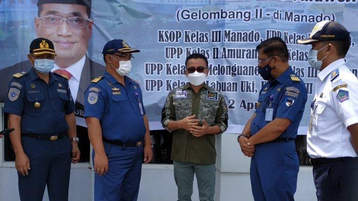 Stefanus Liow Kunjungi Pelabuhan Manado, Cek Program Padat Karya Kementerian Perhubungan