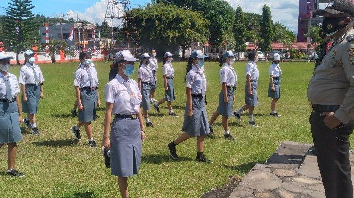 Diklat Paskibraka Kabupaten Minsel Hanya 10 Hari, Perdana Langsung Latihan Formasi