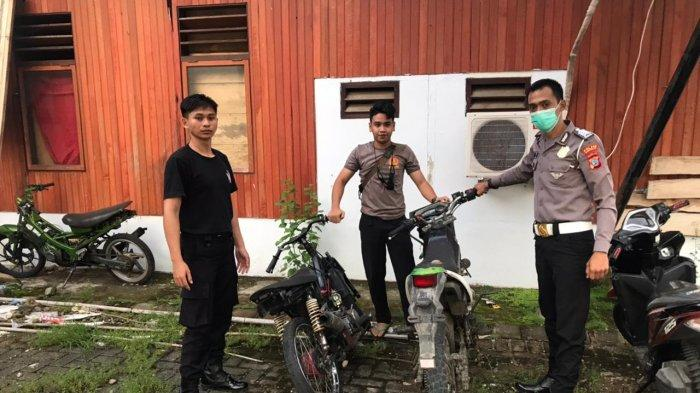 BREAKING NEWS - Polres Bolsel Amankan Dua Kendaraan yang Terlibat Balap Liar di Kantor Panango