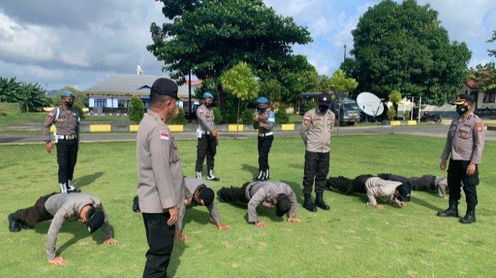 Sejumlah Anggota Polisi di Talaud Jalani Sanksi Disiplin