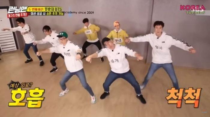 Kocak! Anggota Runing Man Tiru Dance BTS di Lagu IDOL
