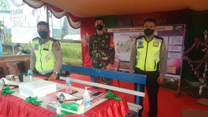 Tim Gabungan TNI Polri Lakukan Pengamanan Natal dan Tahun Baru di Minahasa
