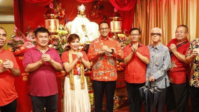 Ditemani 'Pemicu Banjir' saat Pergantian Tahun Baru Imlek 2571 di Jakarta, Anies: Gong Xi Fat Cai