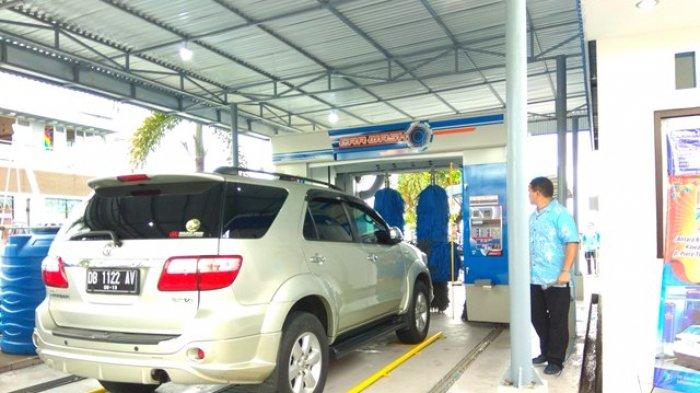 Hanya Butuh Waktu 10 Menit,Cuci Mobil diAntares Wash Mega Mas Bersih dan Aman