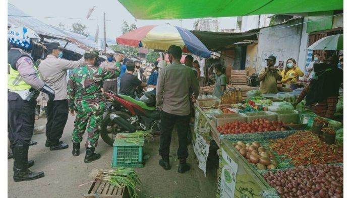 Polres Minut Sasar Pasar Tradisional untuk Razia Protokol Kesehatan